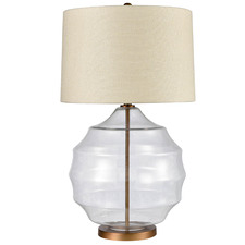Beige Celestine Glass Table Lamp