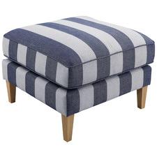 Striped Torrie Upholstered Ottoman
