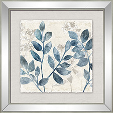 Blue Leaf Right Framed Printed Wall Art