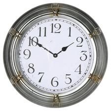 43.5cm Silver Nautical Wall Clock