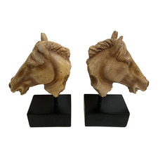 Gold & Black Horse Head Bookends (Set of 2)