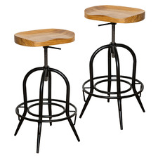 79cm Kira Elm Wood Barstool (Set of 2)