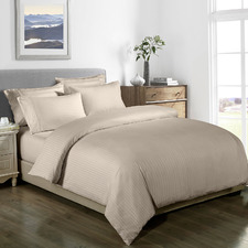 Sand Striped 1000TC Bamboo-Blend Quilt Cover Set
