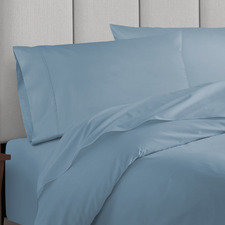 Blue Fog Balmain 1000TC Bamboo & Cotton Quilt Cover Set