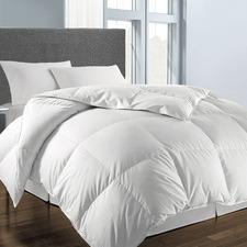 White Wool-Blend Winter Quilt