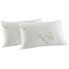 Bamboo-Blend Memory Foam Pillows (Set of 2)