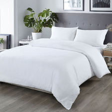 White Bamboo & Microfibre Quilt Cover Set