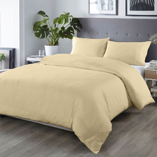 Cream 1000TC Bamboo-Blend Quilt Cover Set