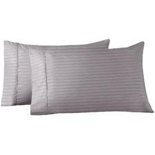 Striped Bamboo & Microfibre Standard Pillowcases (Set of 2)