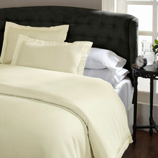 Ivory Lucina 1500TC Cotton-Rich Quilt Cover Set