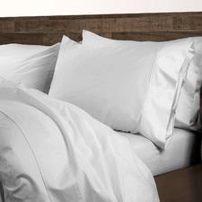 White 1000TC Cotton-Blend Quilt Cover Set
