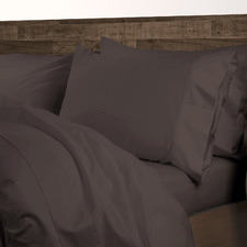 Dark Brown 1000TC Cotton-Blend Quilt Cover Set