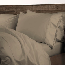 Pewter Brown 1000TC Cotton-Blend Quilt Cover Set