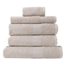 5 Piece Cloelia Cotton Bamboo Bathroom Towel Set