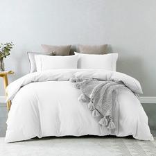 White Aelia Cotton Quilt Cover Set