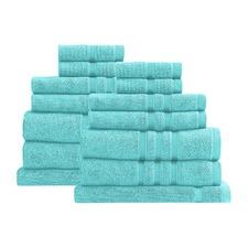 14 Piece Peppermint Renee Taylor Aria Towel Set