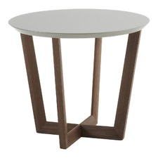 Alive Walnut & Light Grey Side Table