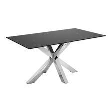 Argo Black & Stainless Steel Dining Table