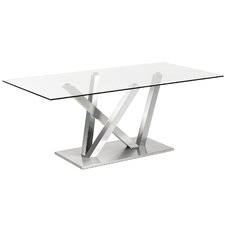 Clear Prentice Glass Dining Table