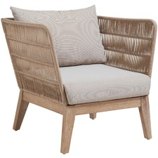 Beige Velma Rope Outdoor Armchair