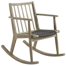 Dark Grey Lozano Outdoor Rocking Chair