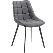 Faux Leather Quilted Dining Chair (Set of 2)