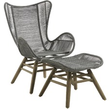 Leigh Rope Outdoor Armchair & Footrest Set