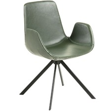 Kourtney Faux Leather Armchair