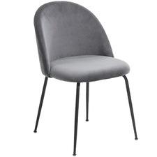 Black Leg Velvet Dining Chair (Set of 2)