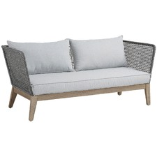 Grey Inayah Acacia 3 Seater Outdoor Sofa