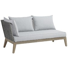 Grey Alston Acacia 2 Seater Outdoor Sofa