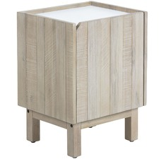 Katya Acacia Bedside Table