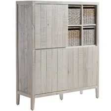 White Wash Mattams Pine Cabinet