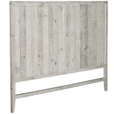 White Wash Hawkins Pine Wood Headboard