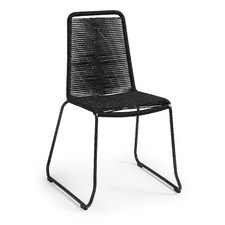 Black Gough Rope Outdoor Chair