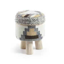 Murtaza Wool Footrest