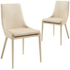 Christina Nubuck Leather Dining Chairs (Set of 2)