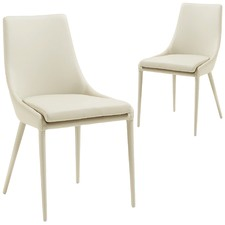 Orlaith Faux Leather Dining Chair (Set of 2)