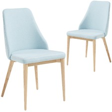Quilted Fabric Dining Chair (Set of 2)