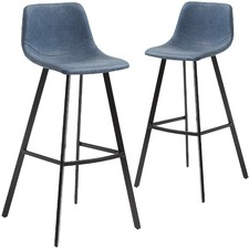 65cm Abigayle Faux Leather Barstool (Set of 2)
