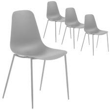 Stanislaw Metal Dining Chair (Set of 4)