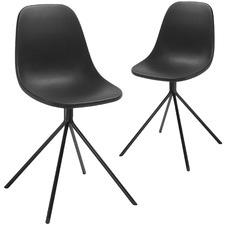 Plastic & Metal Eva Dining Chair (Set of 2)