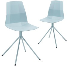Plastic & Metal Geo Dining Chair (Set of 2)