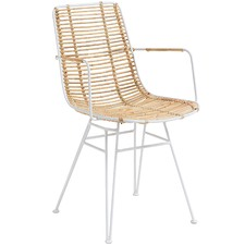 Redley Rattan Outdoor Dining Chair (Set of 2)