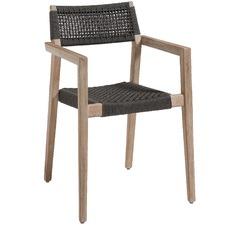 Dark Grey Parisa Rope Outdoor Dining Chair (Set of 4)