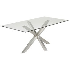 Clear & Silver Halvor Dining Table