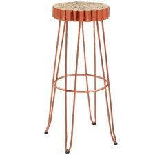 Copper Laveda Metal & Wood Barstool