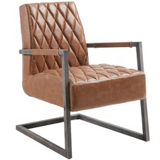 Tan Dylan Faux Leather Armchair