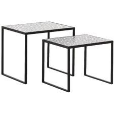 2 Piece Abigail Mosaic Nesting Tables Set (Set of 2)