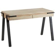 Natural Elisa 2 Drawer Oak Desk